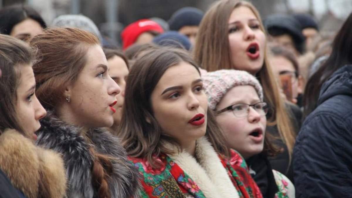 У Вінниці провели вражаючий різдвяний флешмоб: з'явилось відео