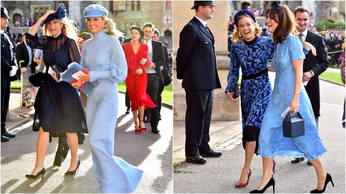 Челси Дэви и Крессида Бонас на свадьбе принцессы Евгении