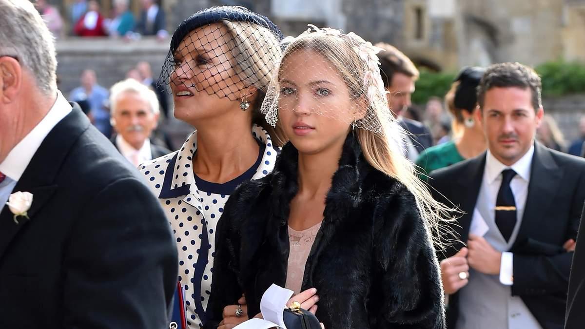 Кейт Мосс відвідала весілля принцеси Євгенії з красунею-донькою Лілою: фото