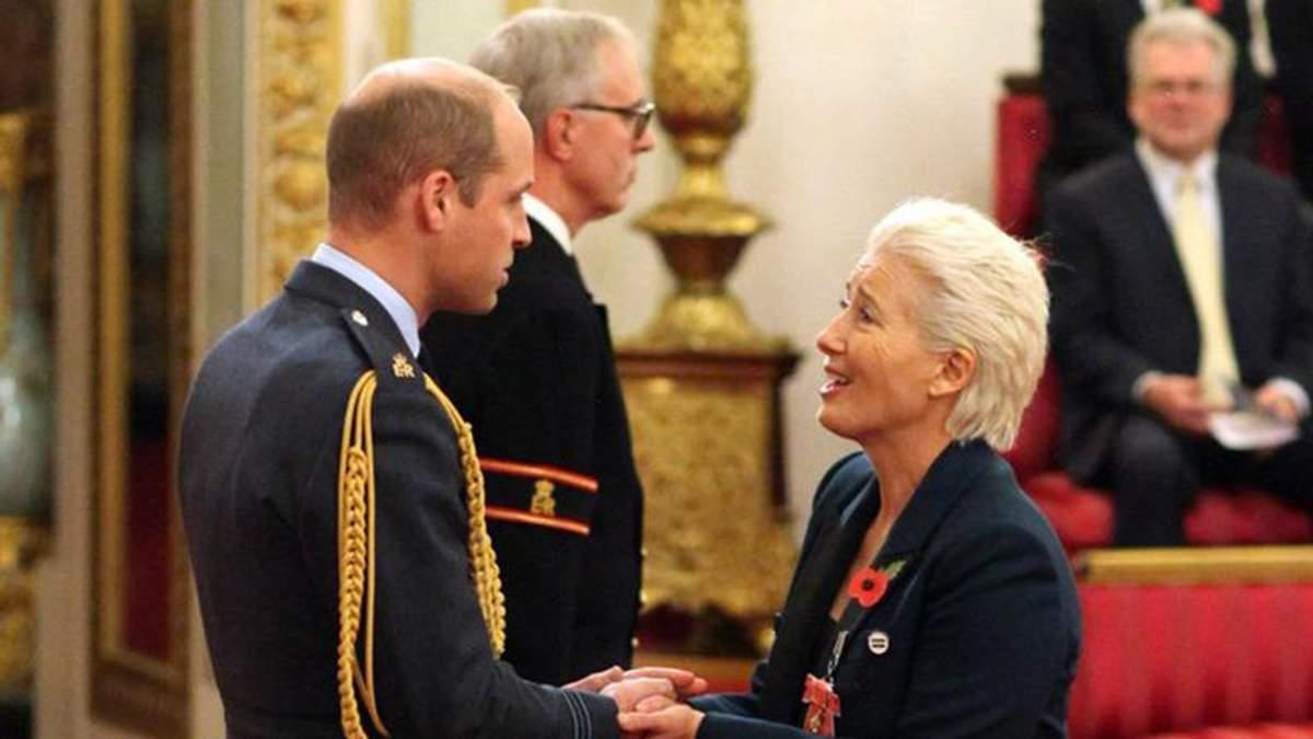 Принц Вільям збентежився від запитання акторки Емми Томпсон: кумедні деталі