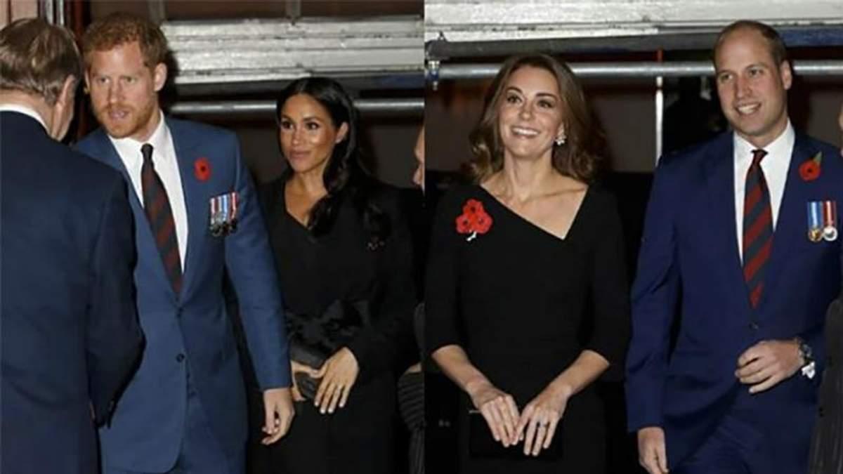 Кейт Миддлтон и принц Уильям, Меган Маркл и принц Гарри