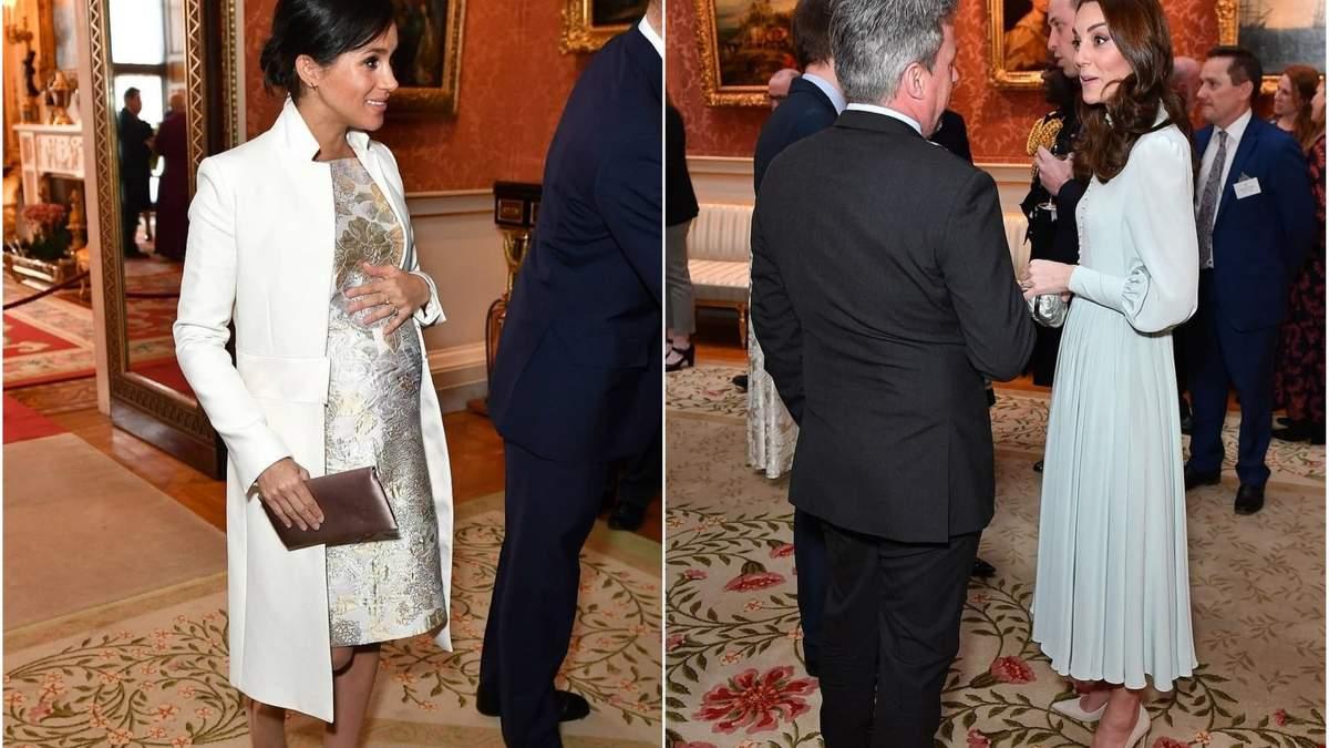 Первый официальный выход Меган Маркл и Кейт Миддлтон: герцогини на приеме в честь принца Чарльза