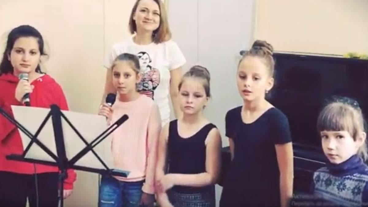 У Сімферополі діти виконали пісню за віршами Шевченка