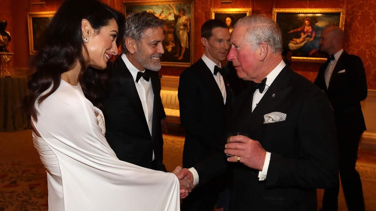 Джордж і Амаль Клуні завітали на прийом в Букінгемський палац: чарівні фото