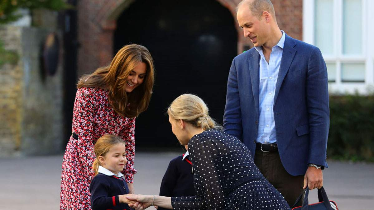 Кейт Миддлтон и принц Уильям отвели детей в школу