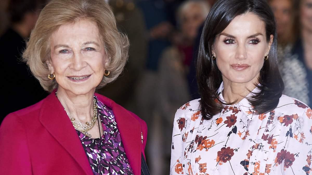 У сукні з квітами і шкіряній куртці: королева Іспанії Летиція здійснила світський вихід
