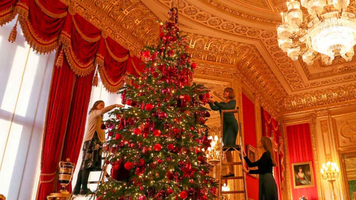 Різдвяний декор Віндзорського замку