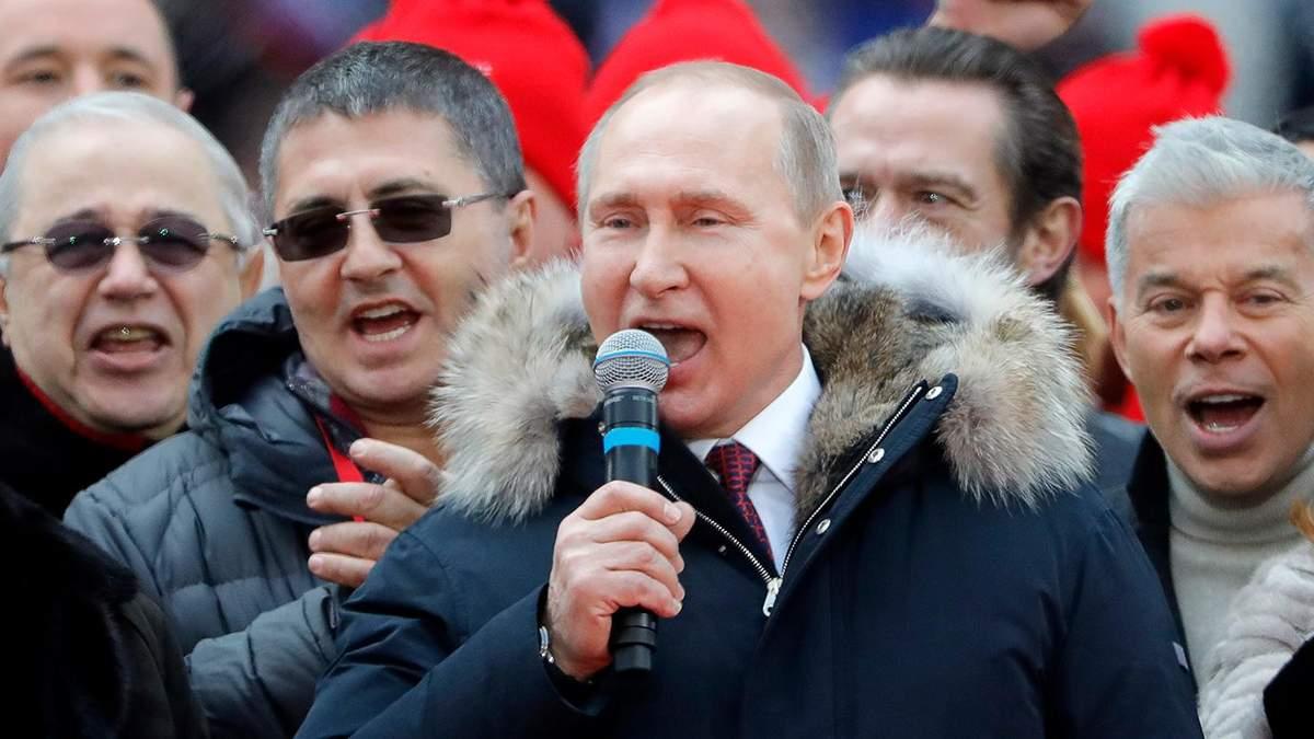 Кремль опубликовал видео с поющим Путиным