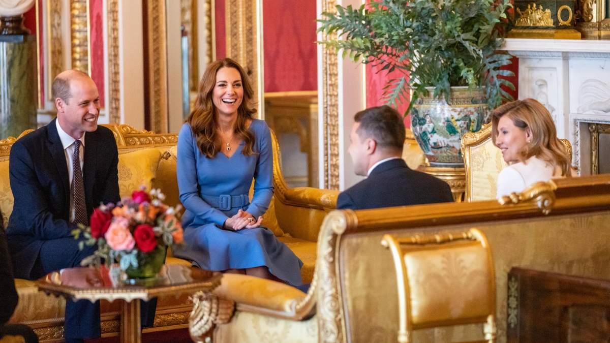 Владимир и Елена Зеленские прибыли в Лондон: фото встречи с королевскими потомками