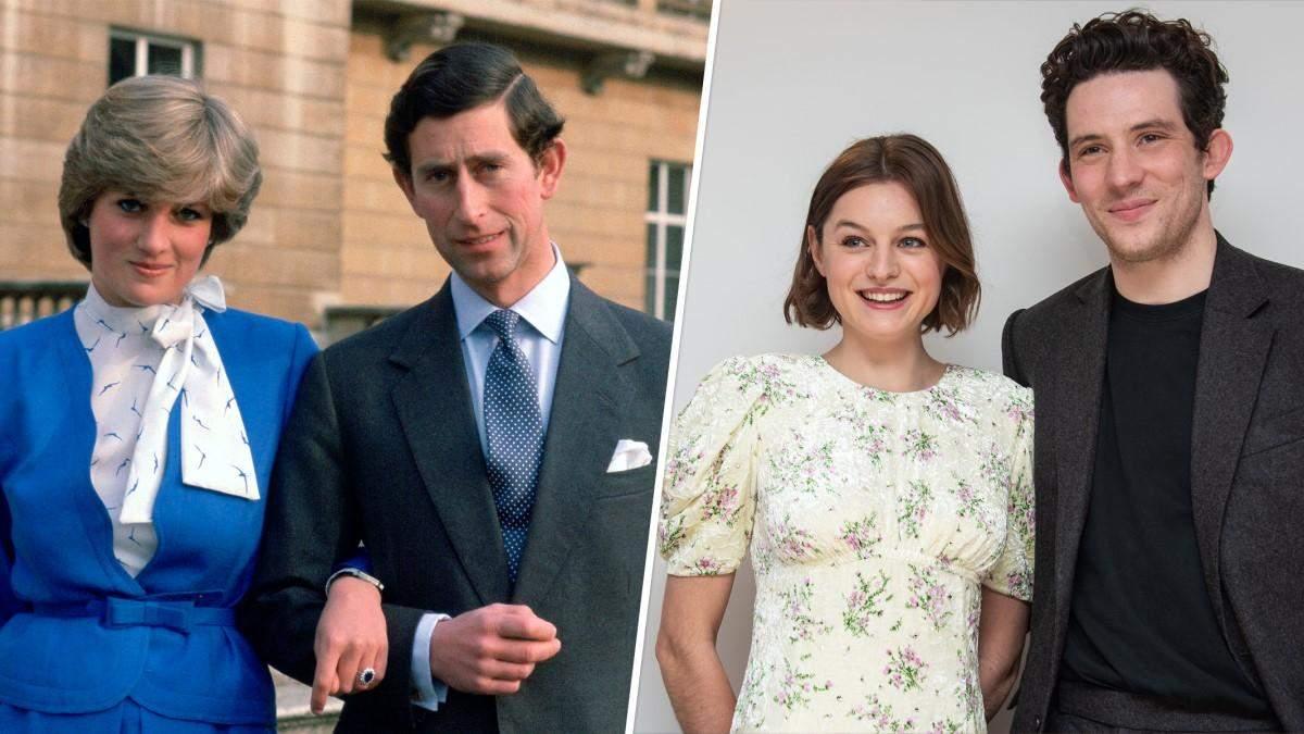 Корона 4 сезон: актори відтворили фото принца Чарльза і Діани