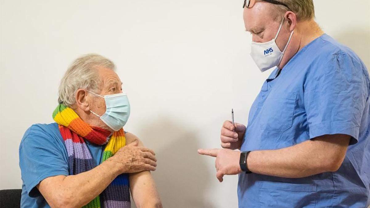 Иен Маккеллен вакцинировался от COVID-19