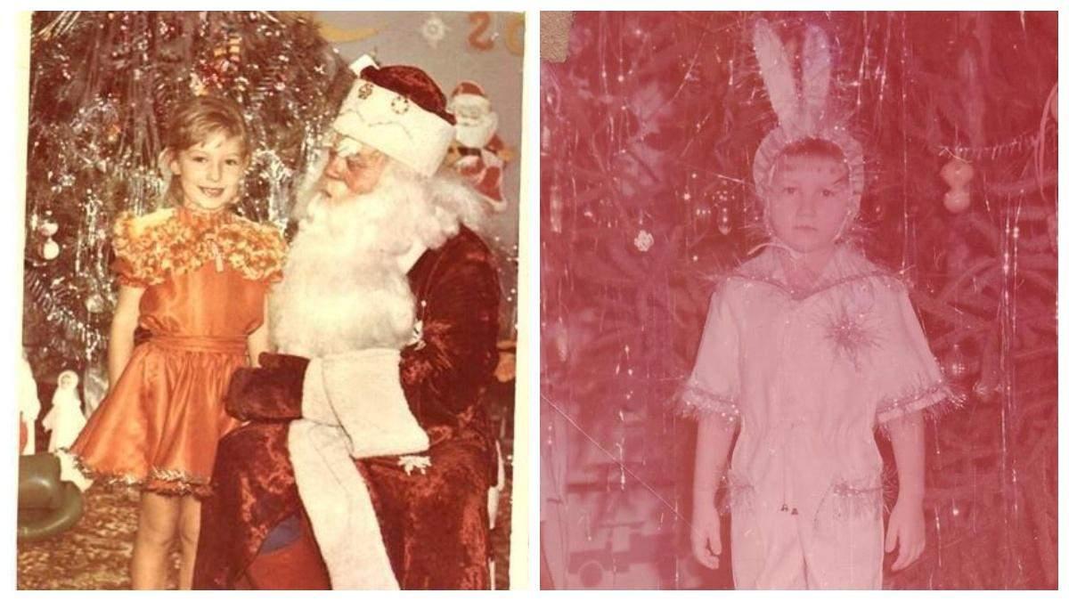 Як зірки виглядали на новорічних ранках: архівні фото