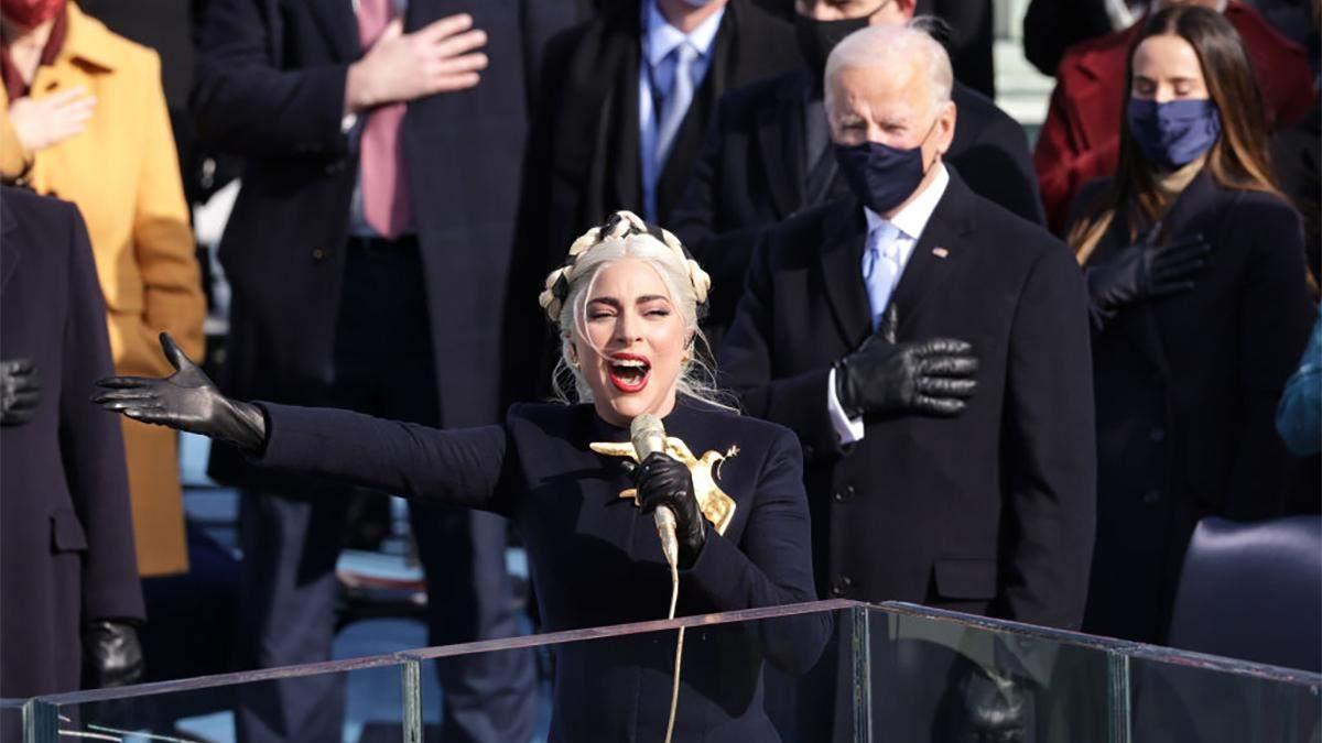 Леди Гага исполнила гимн на инаугурации Байдена: красноречивое видео