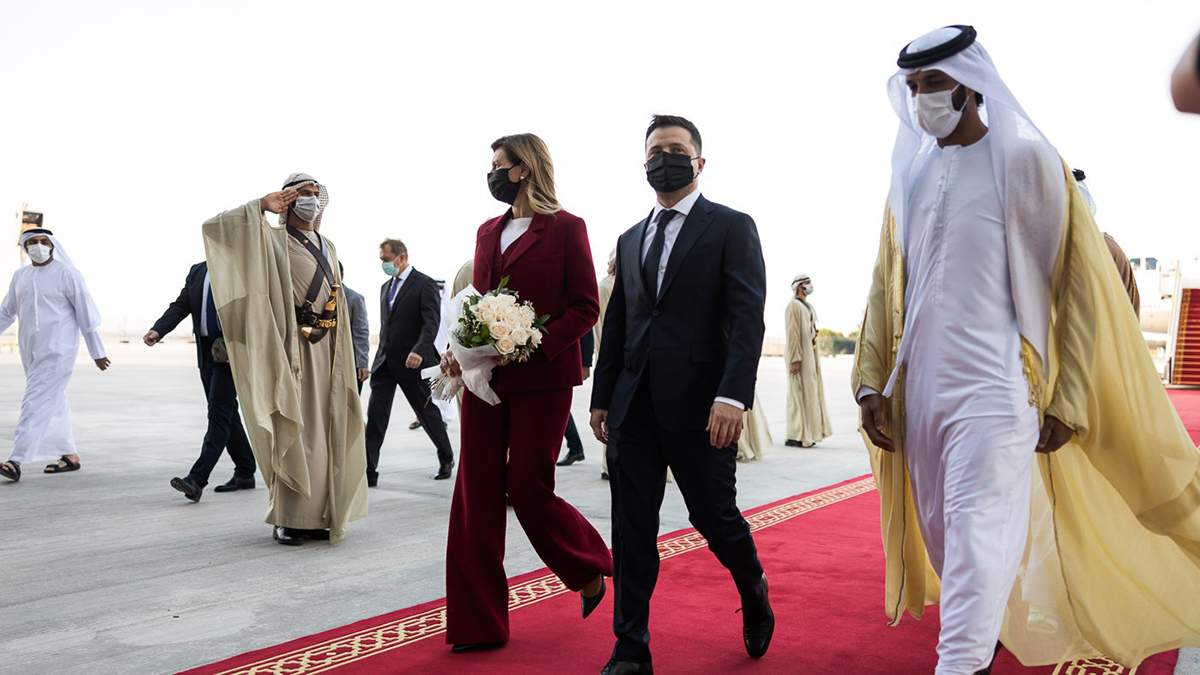 Елена Зеленская появилась в ОАЭ в изысканном костюме: фото, видео