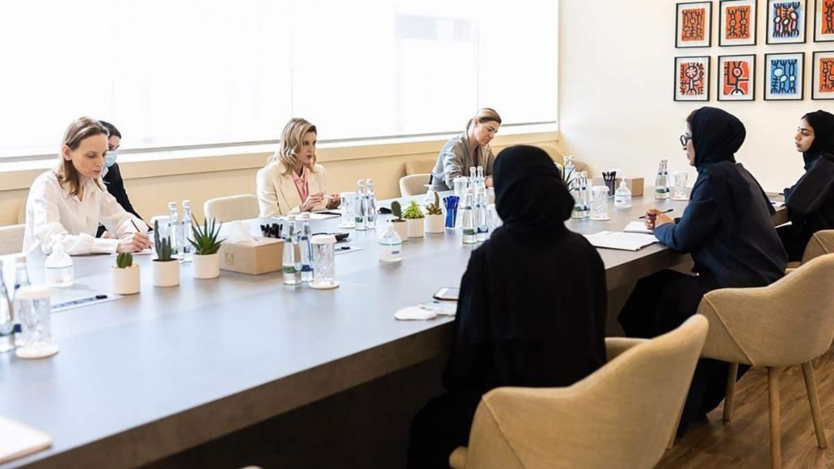 Елена Зеленская встретилась с министром культуры и молодежи ОАЭ: фото ее безупречного образа