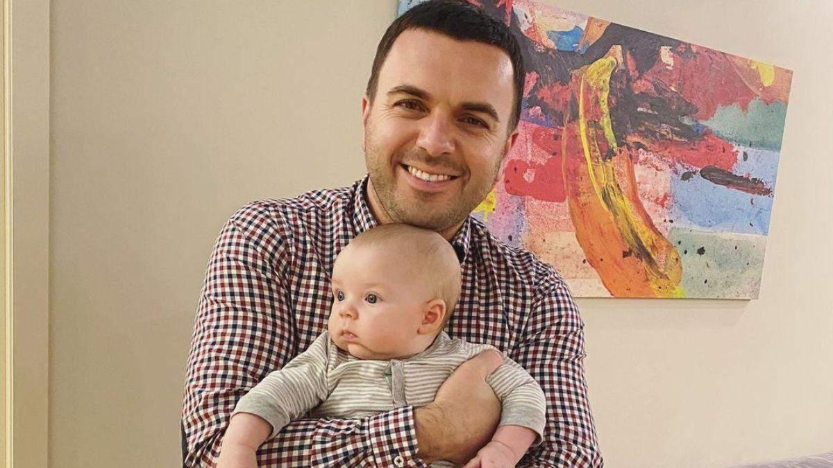 Григорій Решетник замилував фото з наймолодшим сином