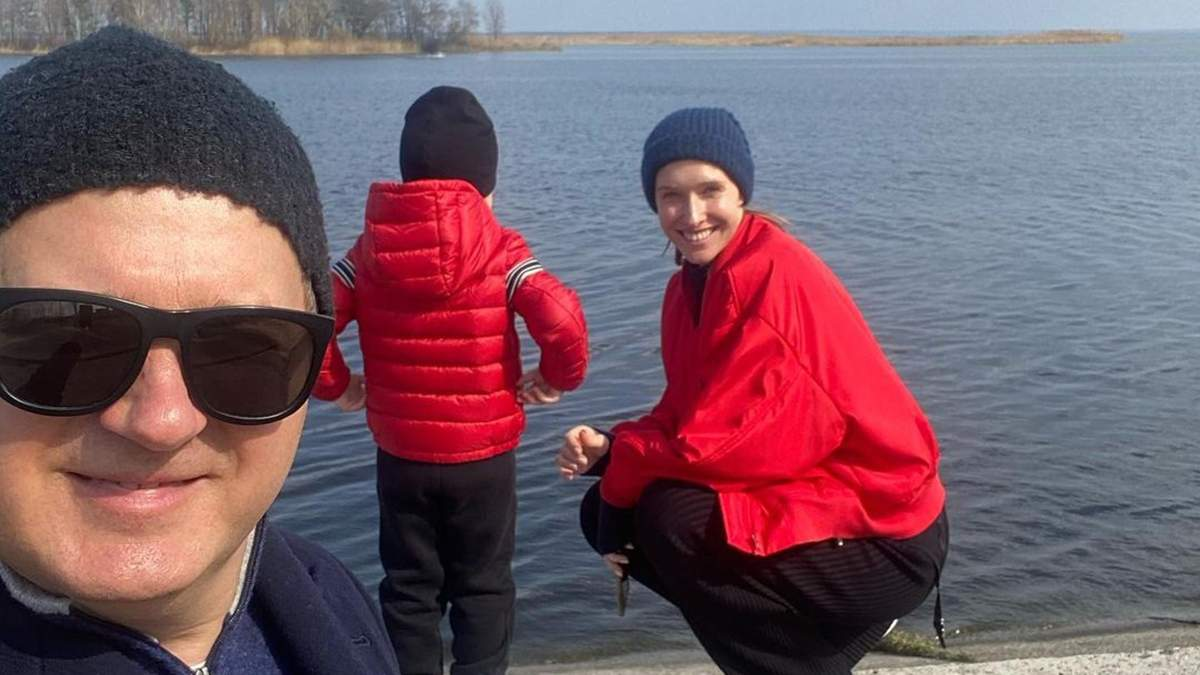 Как Катя Осадчая провела уикенд с мужем и сыном: фото