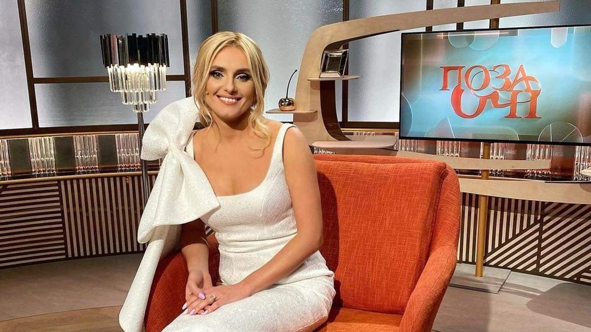 Ірина Федишин захопила образом у білій сукні з бантом: фото