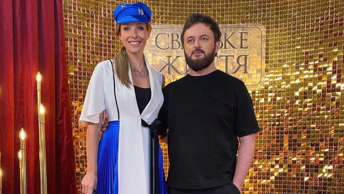Катя Осадчая покорила эффектным образом в бело-синем наряде: яркое фото