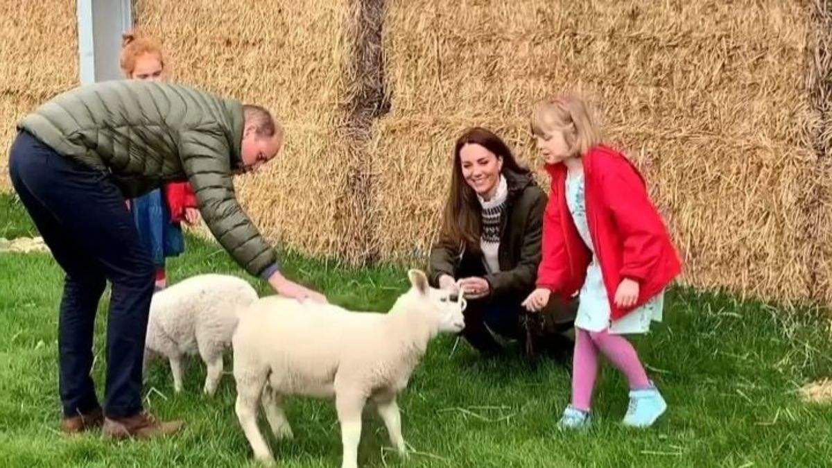 Кейт Міддлтон та принц Вільям відвідали ферму: миловидне відео