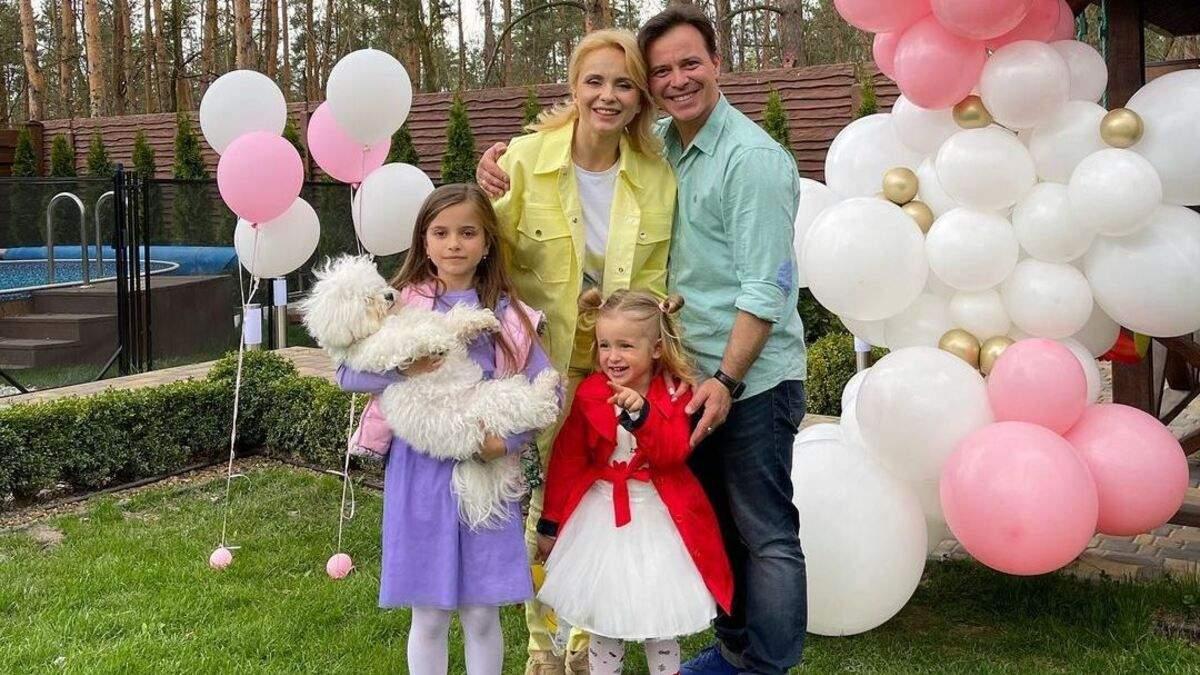 Лілія Ребрик показала яскраві сімейні фото зі святкування 3-річчя молодшої доньки