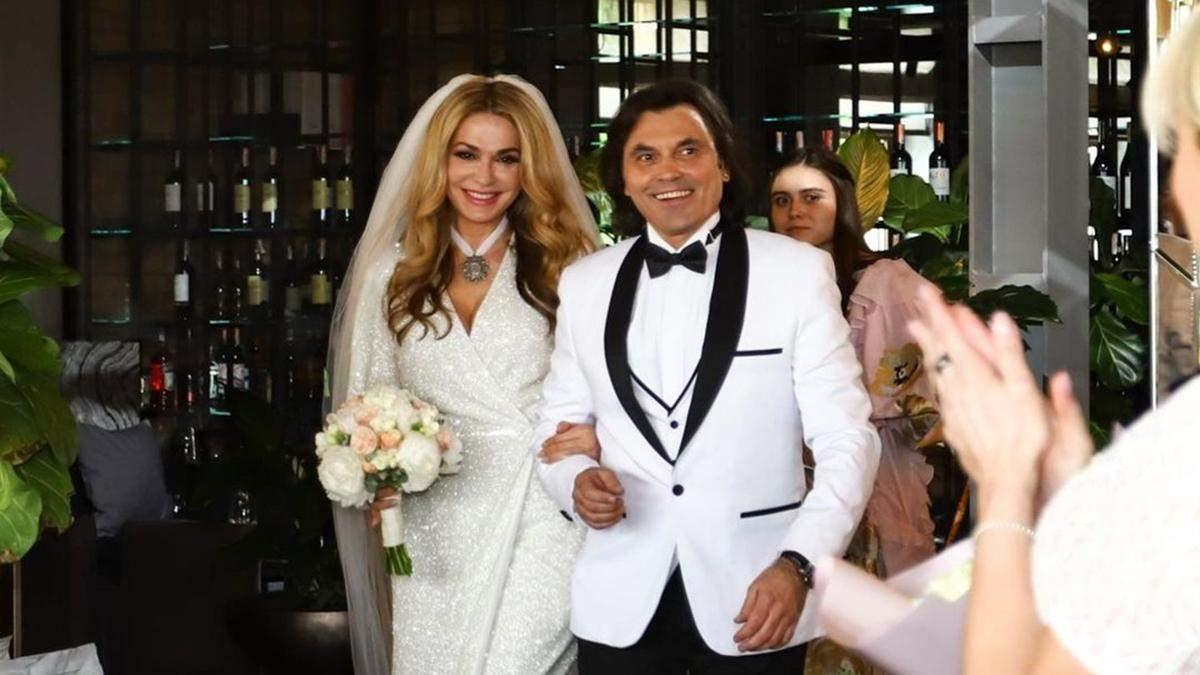 Вторая свадьба Ольги Сумской и Виталия Борисюка: фото, видео