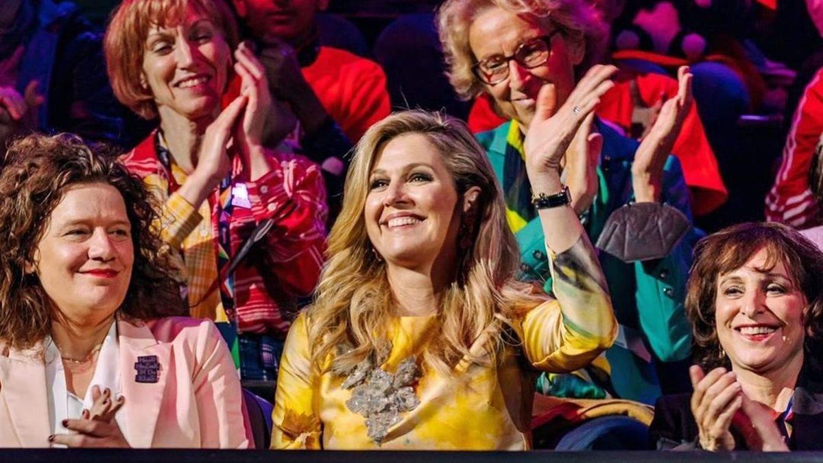 Королева Максима відвідала Євробачення-2021: фото образу