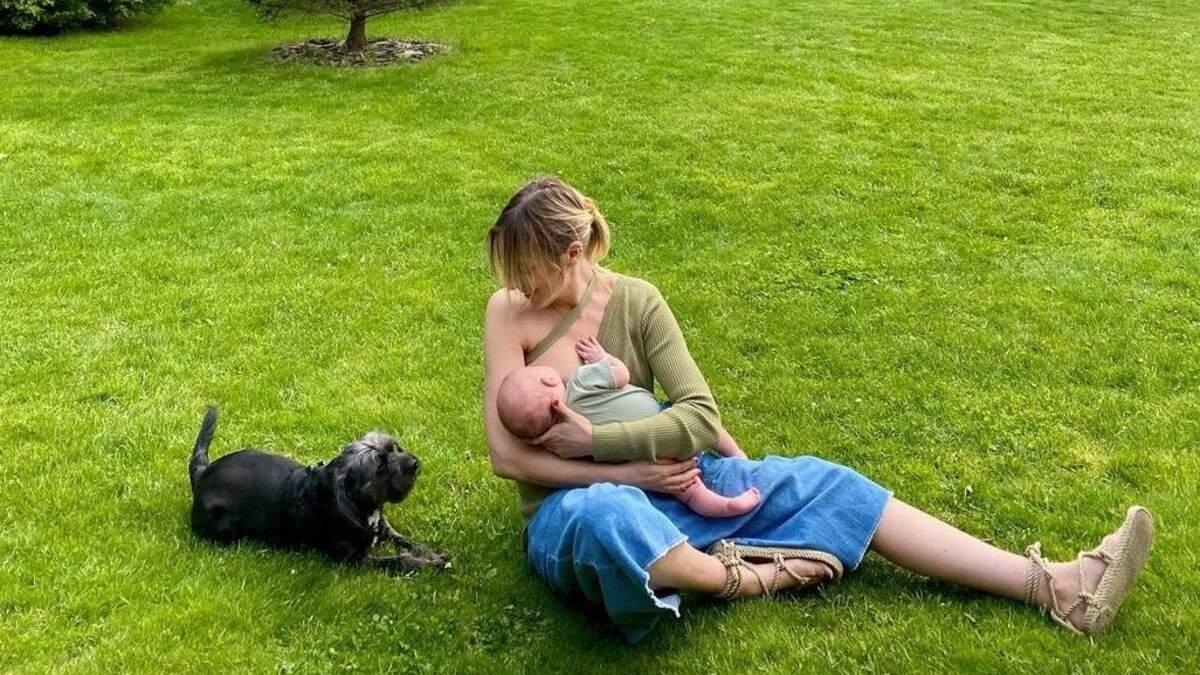 Василіса Фролова показала, як годує грудьми первістка: фото з пікніка