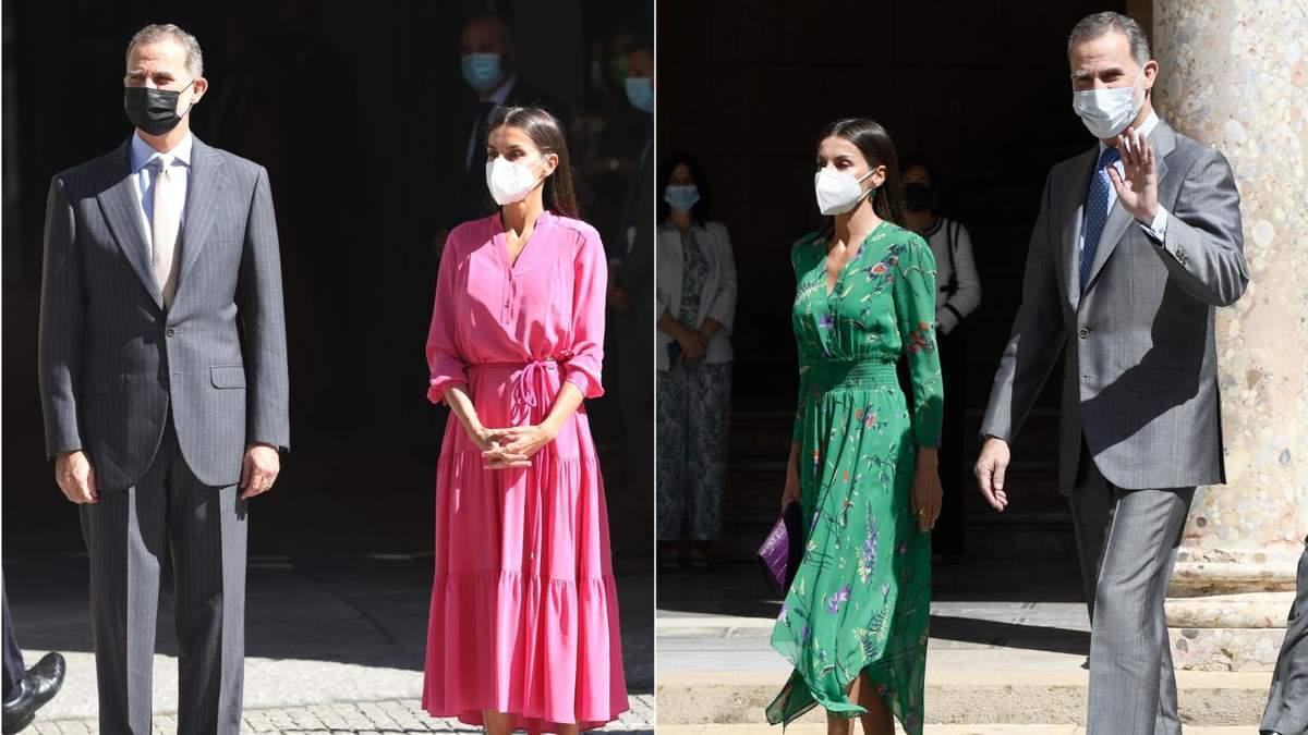 Королева Летиция надела брендовые платья в музеи Испании
