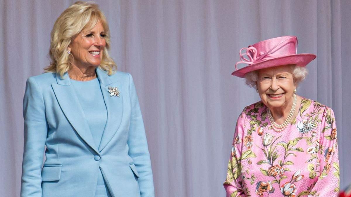 Джилл Байден зачарувала образом на зустрічі з Єлизаветою II: фото