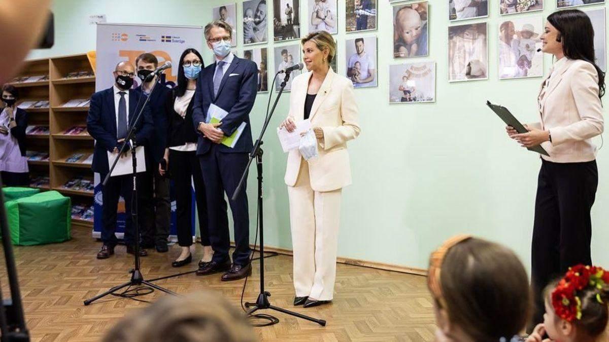 Олена Зеленська відвідала Полтаву у вишуканому образі: фото