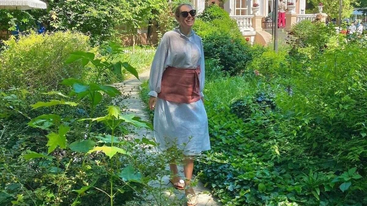 Беременная Катя Осадчая поддержала сборную Украины: фото из Одессы