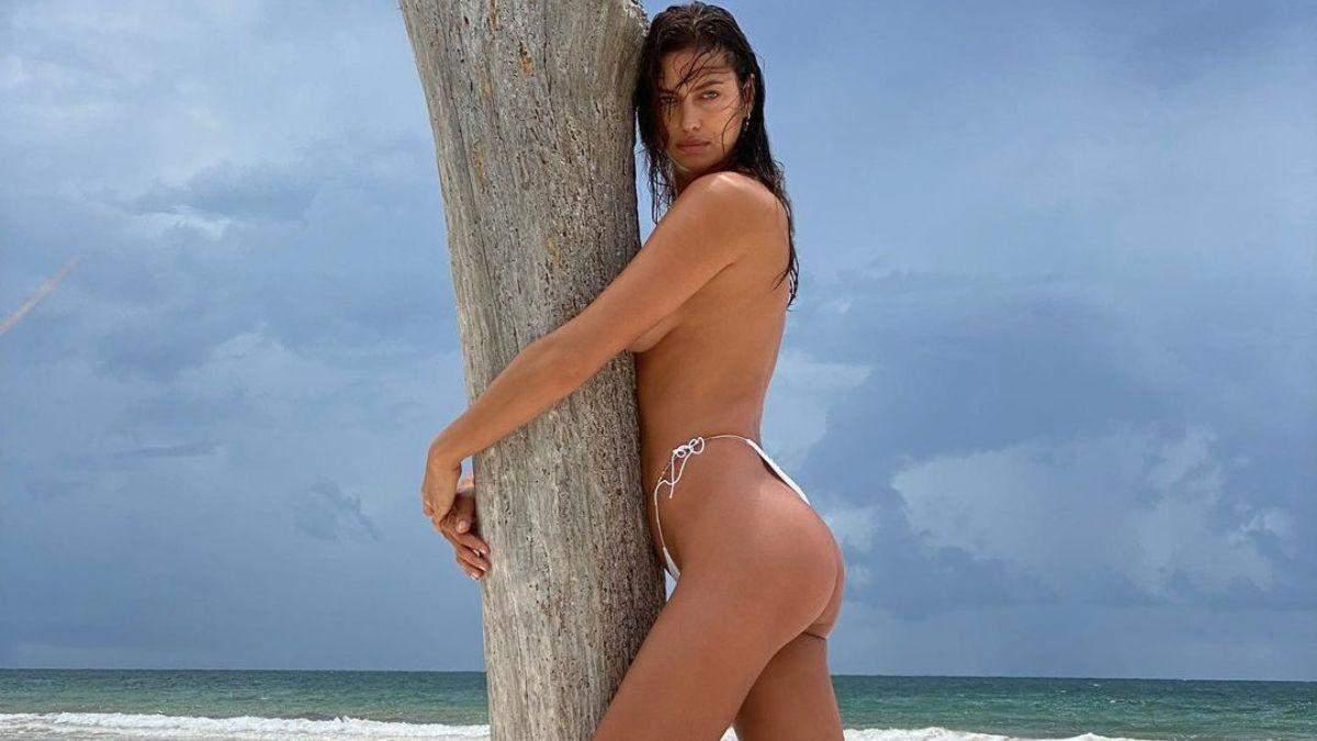 Ирина Шейк полностью обнажила грудь: фото 18+