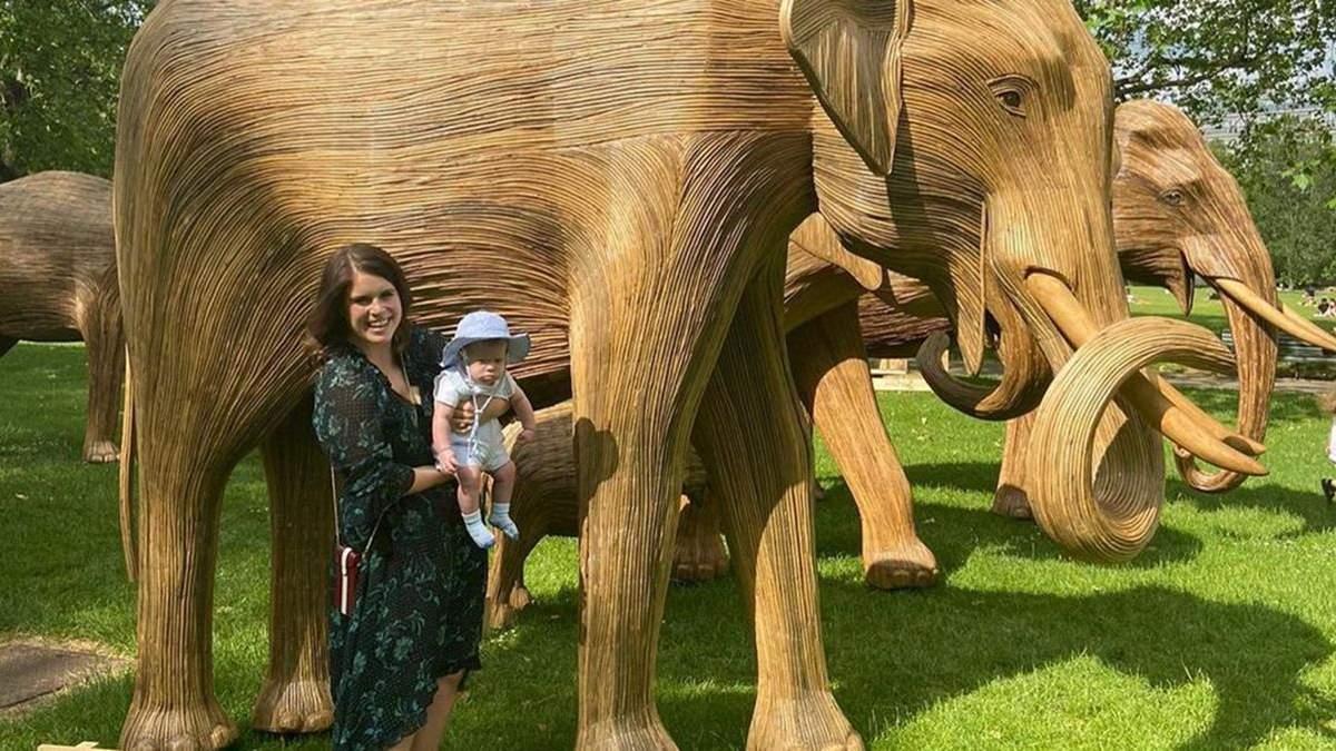 Принцесса Евгения показала прогулку с сыном: фото с Грин-парка