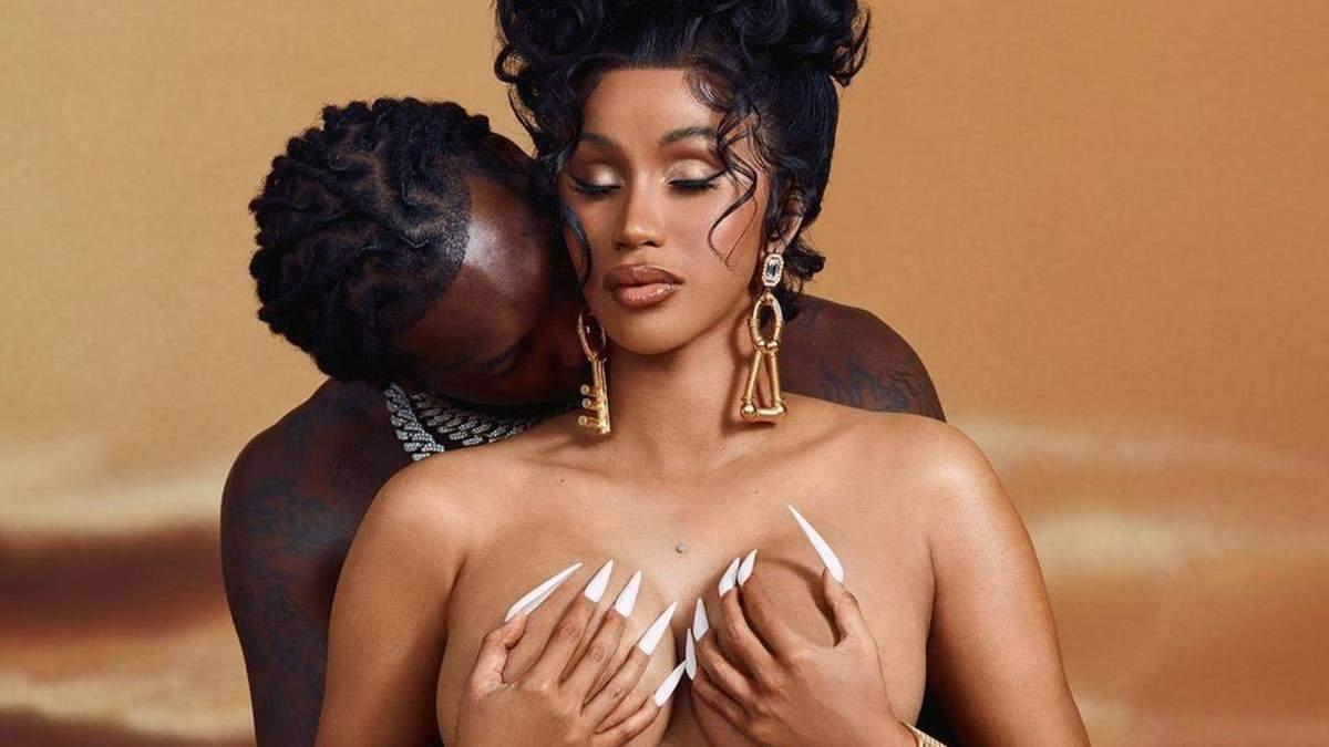 Беременная Cardi B полностью обнажилась: страстное фото с мужем