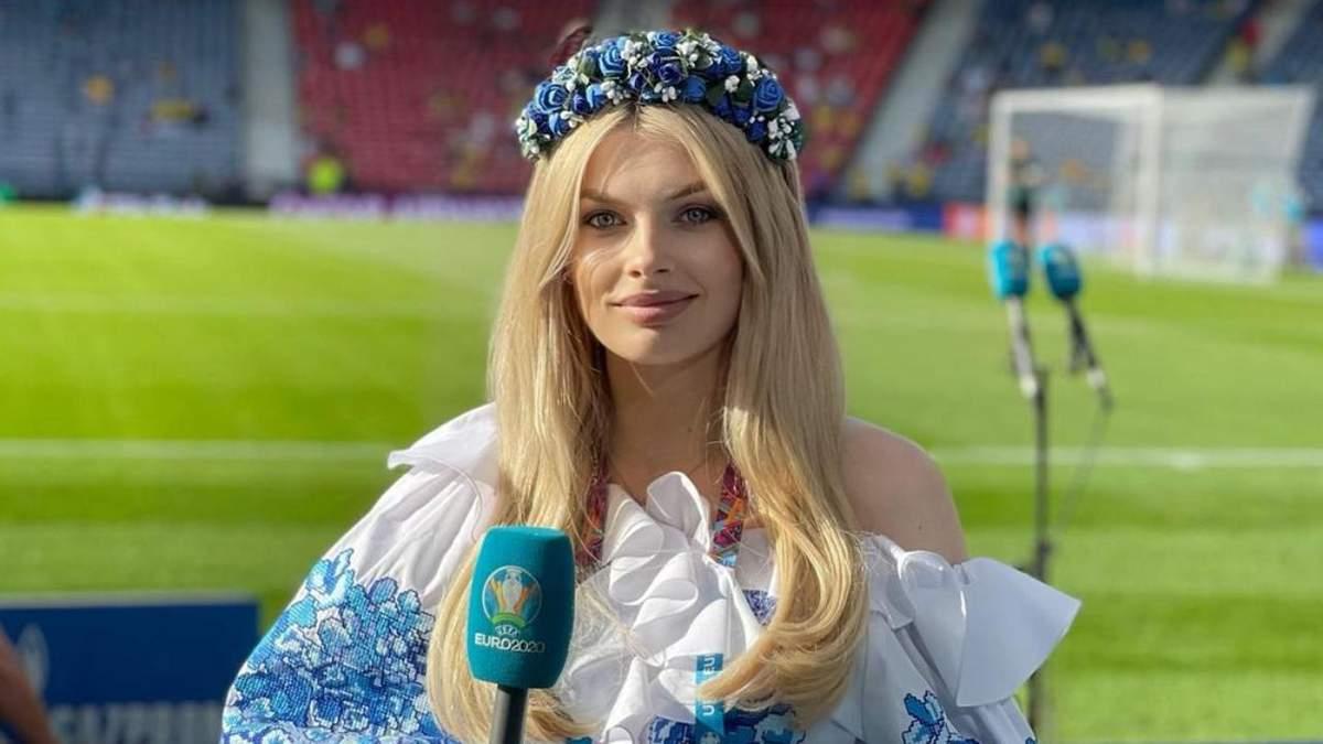 Влада Седан на стадионе матча Украина - Англия: фото