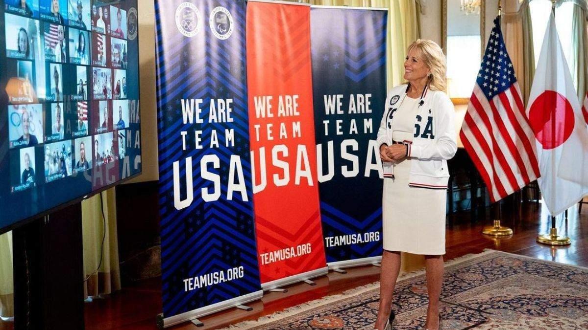 Джилл Байден Джилл Байден підтримала збірну США на Олімпіаді-2020: фото