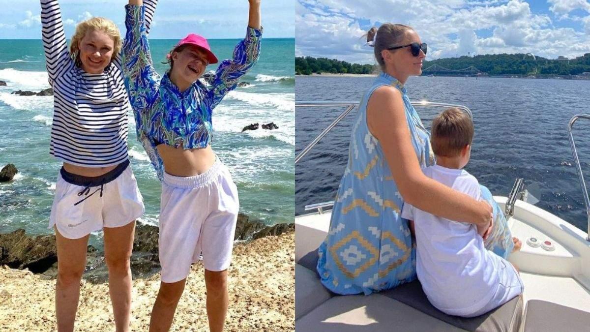 Как украинские звезды отдыхают с детьми