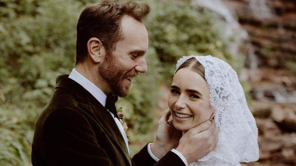 """Зірка серіалу """"Емілі в Парижі"""" Лілі Коллінз вийшла заміж: казкові фото з весілля - Новини шоу-бізнесу - Showbiz"""