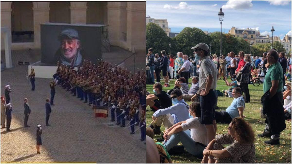 Прощание с Жан-Поль Бельмондо: видео и фото 9 сентября 2021