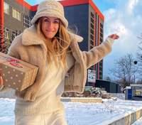 У шубці та панамі: Леся Нікітюк показала стильний зимовий образ – фото