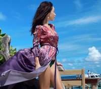 На Мальдивах: Екатерина Кухар показала яркие кадры с отдыха на острове