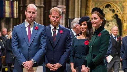 Королівський розкол: принц Вільям шокований через рішення принца Гаррі й Меган Маркл