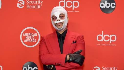 Чому The Weeknd прийшов на премію AMA у бинтах і з синцями?