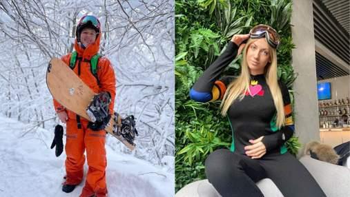 Лижі, купання в басейні та сноуборди: як проводять зимовий відпочинок українські зірки