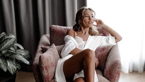 Беременная Даша Квиткова поразила дерзким образом в откровенном белье: эротический кадр