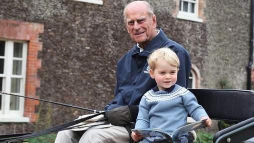 Принц Вільям відреагував на смерть дідуся принца Філіпа: зворушливе фото герцога з правнуком