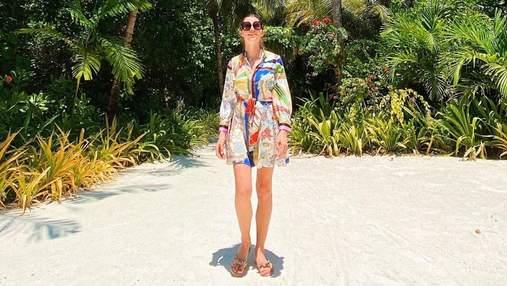 Дружина Григорія Решетника похизувалася фігурою на Мальдівах: фото яскравого образу