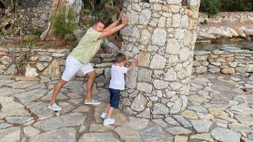 Юрій Горбунов захопив мережу кумедним фото з сином: рідкісний кадр з Туреччини