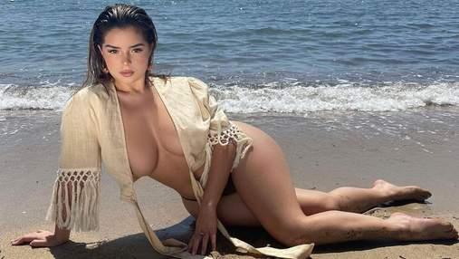 Демі Роуз показала великі груди без бюстгальтера: фото пікантного образу